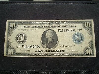 1914 $10 Atlanta Blue Seal Frn