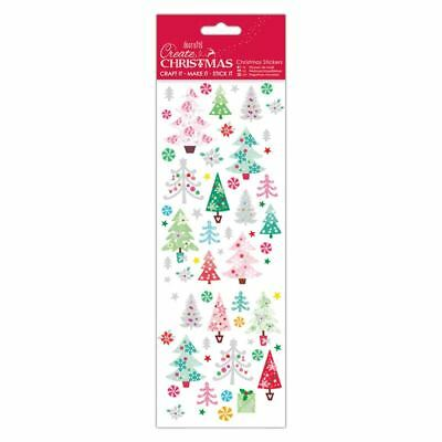 DOCRAFTS FOIL /& GLITTER CHRISTMAS SNOWMEN FACES STICKERS FOR CARDS /& CRAFTS
