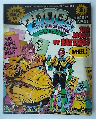 2000 AD MONTHLY ,,The best of,,no 21 FEATURING JUDGE DREDD 1987+ SLAINE
