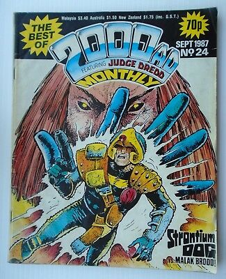 2000 AD MONTHLY ,,The best of,,no 24 FEATURING JUDGE DREDD 1987+ STRONTIUM DOG