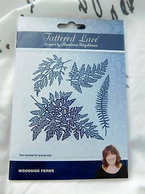 stunning realistic WOODSIDE FERNS DIESET TLD634 Tattered lace StephanieWeightman