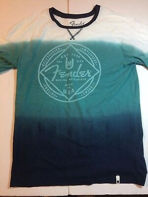 Lucky Brand Boys XL Fender Guitars Tie Dye T-Shirt