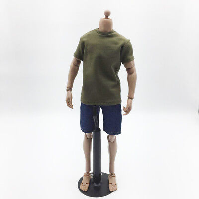 1/6 Men T-shirt &Jeans Set Clothing for 12'' Action Figure Body Toys Gift