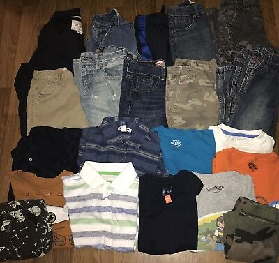 boys Summer/fall play clothes shorts Jeans Sz 5/6 Lot Of 21 Oshkosh Levi's