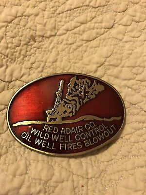 Red Adair Belt Buckle Signed Letter from Red