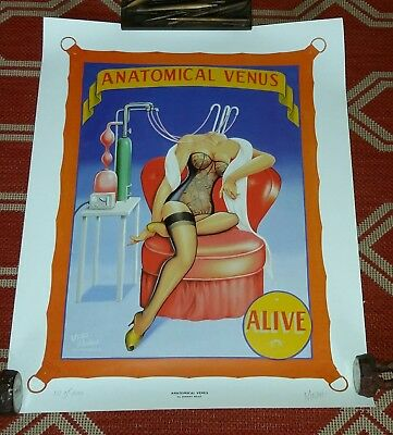 Johnny Meah Anatomical Wonder Pinup Sideshow Circus Poster