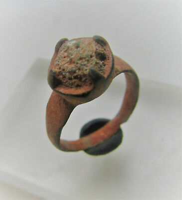 Late Roman - Early Byzantine - High Class Civilitas Ring W/stone Insert Veryfine