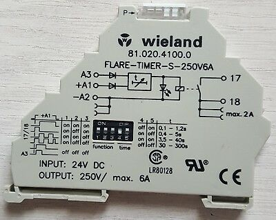 Multifunktionelles Zeitrelais Wieland 81.020.4100.0 In 24VDC Out 250VAC / 6A