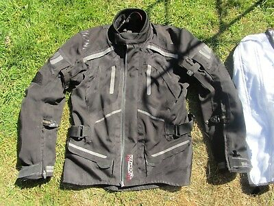Men's Richa A V System Textile Motorcycle Jacket Size L with Zip out Liner