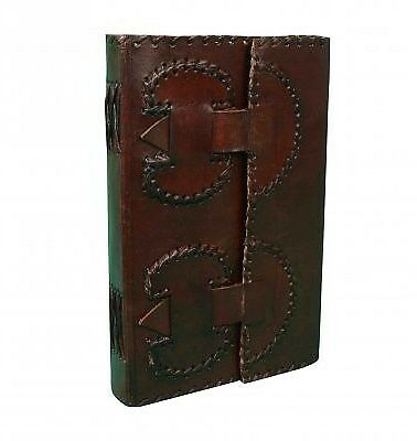 Leather Journal Travel Diary, Handmade Vintage Bound Notebook 4.5x6