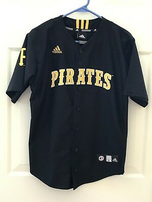 Boys Large Adidas Pittsburgh Pirates Short Sleeve Shirt