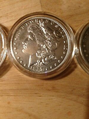 Morgan dollar and quarter and silver collection