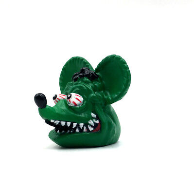 Big Daddy Green Rat Fink Roth Ed Movie Head Rare Pendant Toy Action Figure