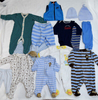 5da12310b8bb7 BABY BOY CLOTHES Lot Nb 0/3 3 Months Outfits One-piece Fall/Winter ...