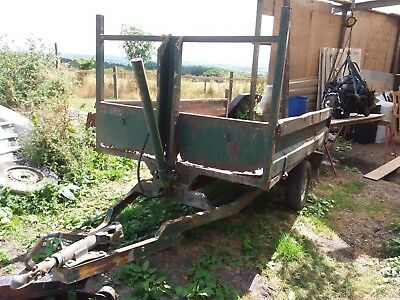 Rare Small Vintage Farm Tipping Trailer Suit Smallholding, Tractor Rally Project