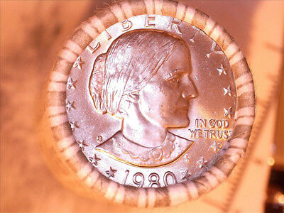 1980-S Susan B. Anthony Dollar Roll - Brilliant Uncirculated Full Mint Luster