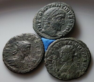 Lot Of 3 Ancient Roman Bronze Coins Probus Constantine !