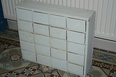 19th OLD SMALL APOTHECARY DRAWERS EX OLD LONDON PHARMACY Laura Ashley paint