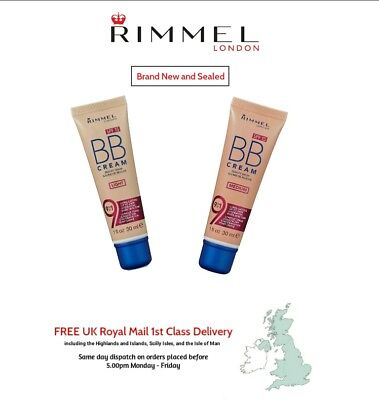 Rimmel BB Cream 9 in 1 Make Up - Brand New and Sealed + FREE 1st Class Delivery