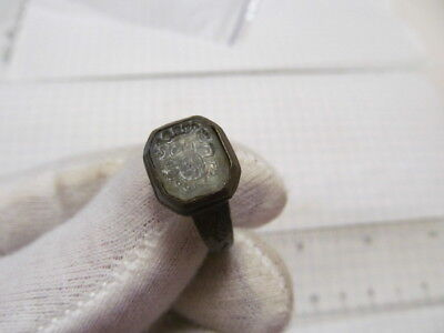 Ancient bronze ring with pseudo heraldry of the 18th century № 331/2.