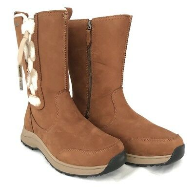 d6b2c9239b8 UGG SUVI WATERPROOF Leather Women's Chestnut Boots Cold Weather -32C Size 9