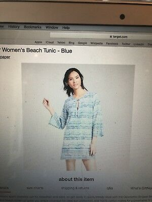 Target: Flora By RockFlowerPaper Size Medium Coverup Tunic Brand-New