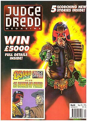 Judge Dredd Megazine #63 VF (8.0) 1994 with Competition Card