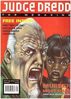Judge Dredd Megazine #11 FN- (5.5) 1992 with Calendar