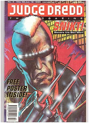 Judge Dredd Megazine #3 VF (8.0) 1992 with Poster