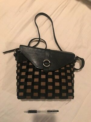 Longaberger To Go Buckle Bag - Leather Weave