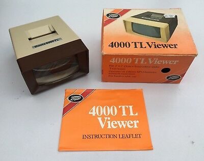 Vintage BOOTS 4000TL Slide Viewer Original Box And Instructions Tested & Working
