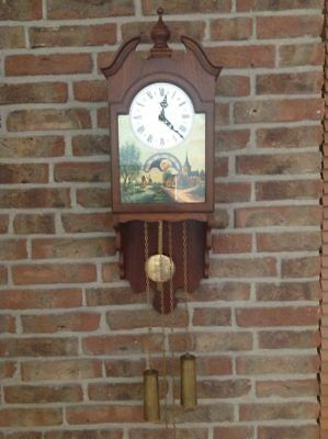 Rare model of Warmink wall clock with Moon Phase Calendar  (1960)