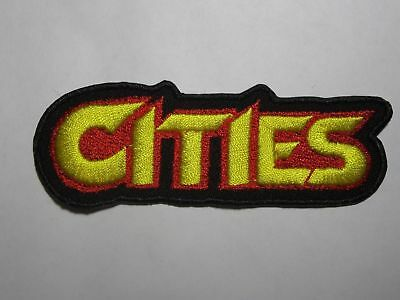 CITIES logo embroidered NEW patch heavy power metal