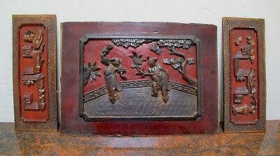 Antique Hand Carved Wooden Panels from a Chinese Temple (Hundreds of  Years Old)