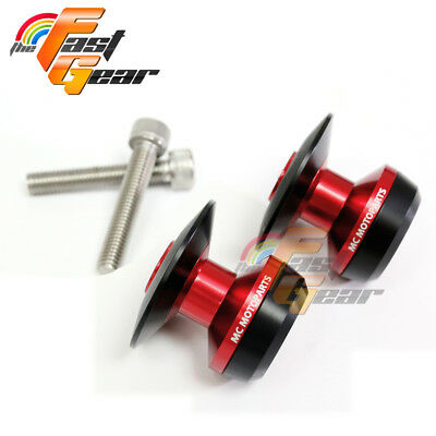 Twall Protector Red Swingarm Spools Sliders Fit Kawasaki ZX-10R Ninja 2011-15