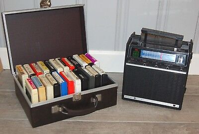 Vintage GE General Electric 3 way AM/FM 8-Track Player Portable Stereo M8617A