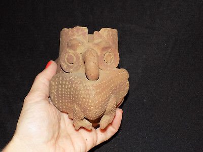 Pre-Columbian Pottery Fragment, Pre-Columbian Clay Owl