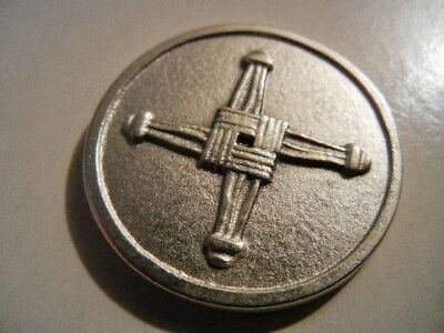 St. Brigid's Cross with Prayer Medal Token  New  Made in italy