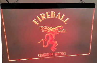 Fireball Cinnamon whisky LED Neon Sign for Game Room,Office, Bar,Man Cave Garage
