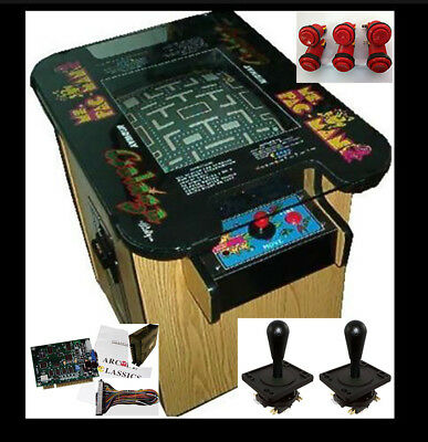 ARCADE GAME Cocktail Cabinet Plans WITH GAME BOARD Buttons Joysticks & MORE!