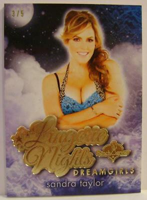 Sandra Taylor Gold Foil Lingerie Nights Dreamgirls 3/5 Bench Warmer 2017 Rare