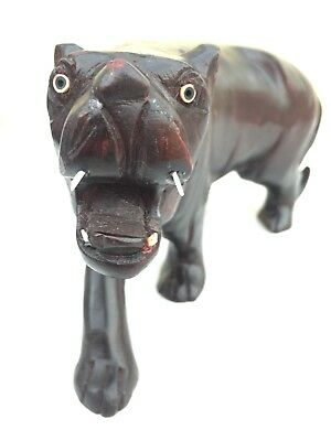 Well look Hand Made Tiger Statue wooden carving