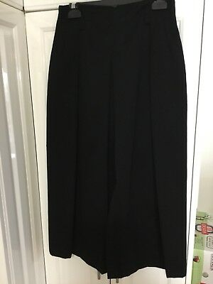 """""""COUNTRY ROAD"""" VINTAGE 1970s PURE WOOL BLACK PLEATED SKIRT MADE IN AUSTRALIA"""
