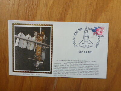 VINTAGE USA COLORANO SILK ILLUSTRATED SPACE FDC - UARS 43rd MISSION