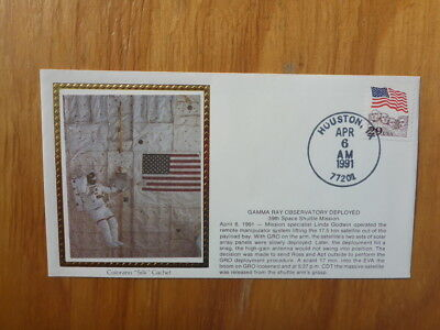 Vintage Usa Colorano Silk Illustrated Space Fdc - Gamma Ray Observatory