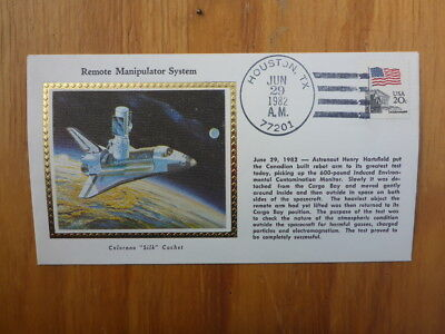 Vintage Usa Colorano Silk Illustrated Space Fdc- Manipulator System
