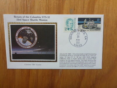 Vintage Usa Colorano Silk Illustrated Space Fdc - Columbia Sts-32 Mission