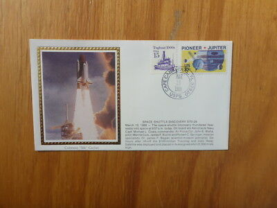 Vintage Usa Colorano Silk Illustrated Space Fdc - Shuttle Discovery Sts-29