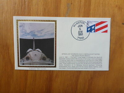 Vintage Usa Colorano Silk Illustrated Space Fdc - Sls-1 Module Activated