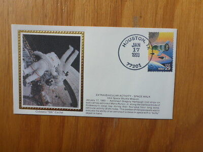Vintage Usa Colorano Silk Illustrated Space Fdc - Space Walk